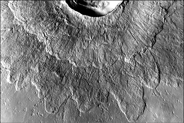 Double-layered ejecta craters on Mars