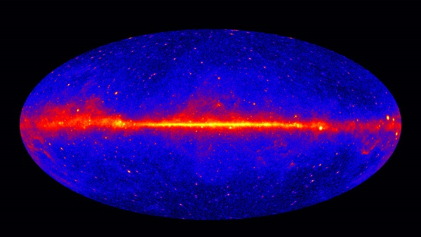 Fermi sky at energies greater than 1 GeV