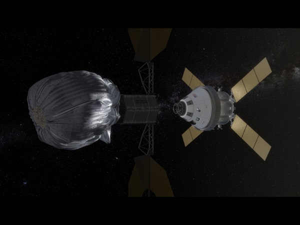 Orion asteroid docking approach