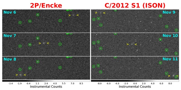 Encke and ISON final comet figure