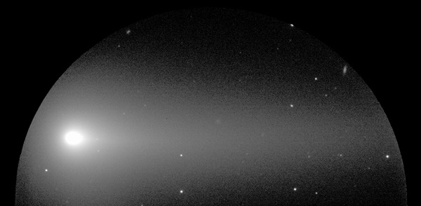 Optical image of the structures surrounding the nucleus of Comet ISON