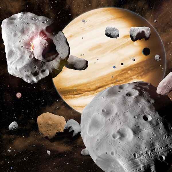 Artist's concept of the asteroid belt