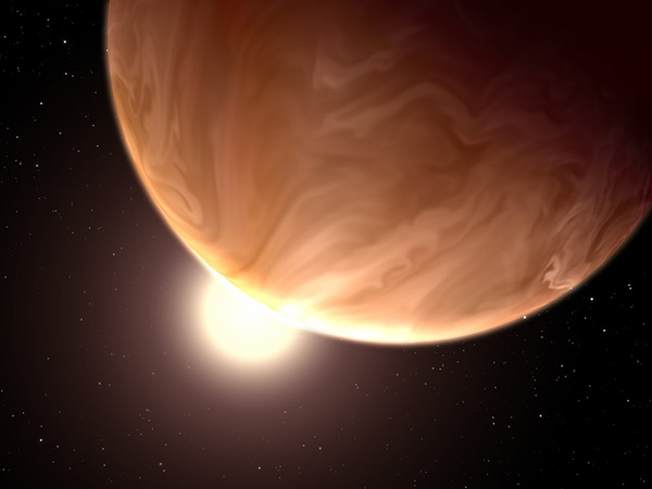 Illustration of exoplanet GJ 1214b