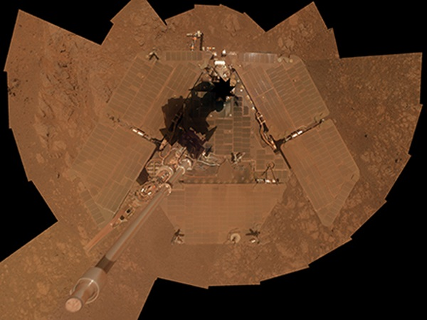Self-portrait of Opportunity taken in January 2014