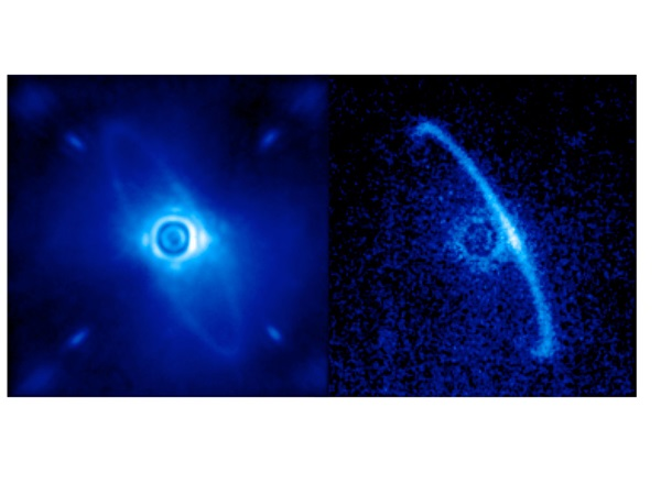Disk of dust orbiting the young star HR4796A