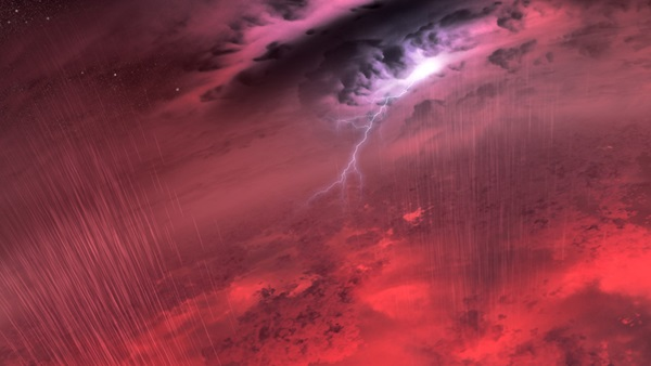 Weather on a brown dwarf