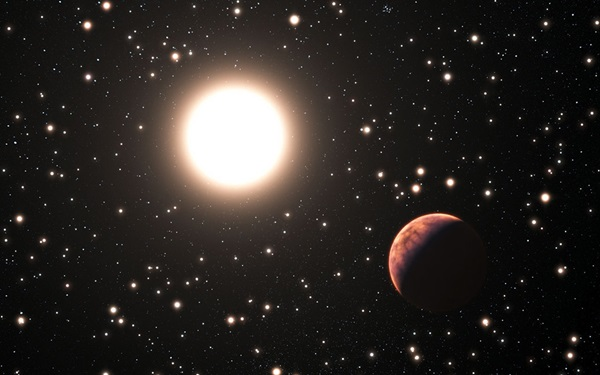 exoplanet orbiting a star in the cluster Messier 67