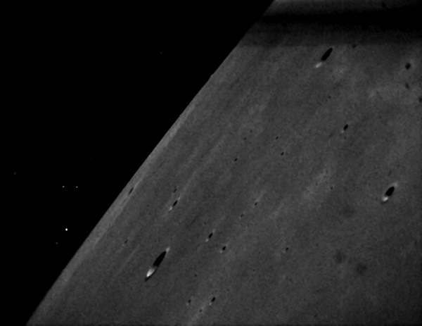 LADEE  star tracker image with Golgi and Zinner Craters