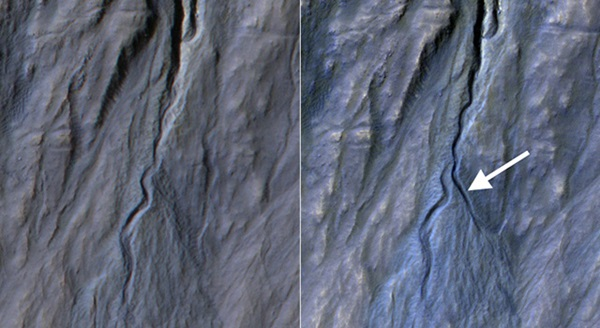 gully channel on Mars