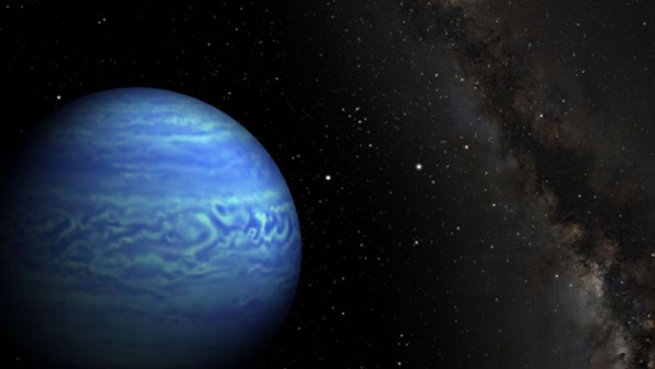 Artist's concept of the coldest known brown dwarf