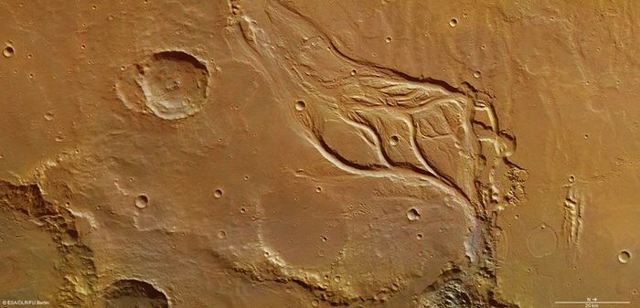 Osuga Valles on Mars