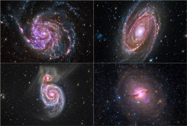 This quartet of galaxies comes from a collaboration of professional and amateur astronomers