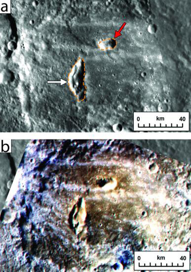 Pyroclastic vents on Mercury