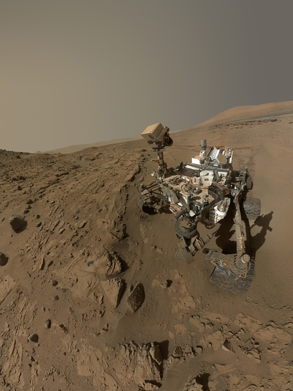 Mars Curiosity rover self-portrait at Windjana