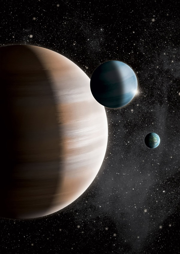 "New research finds that exoplanets can be divided into three groups – terrestrials, gas giants, and mid-sized ""gas dwarfs."""