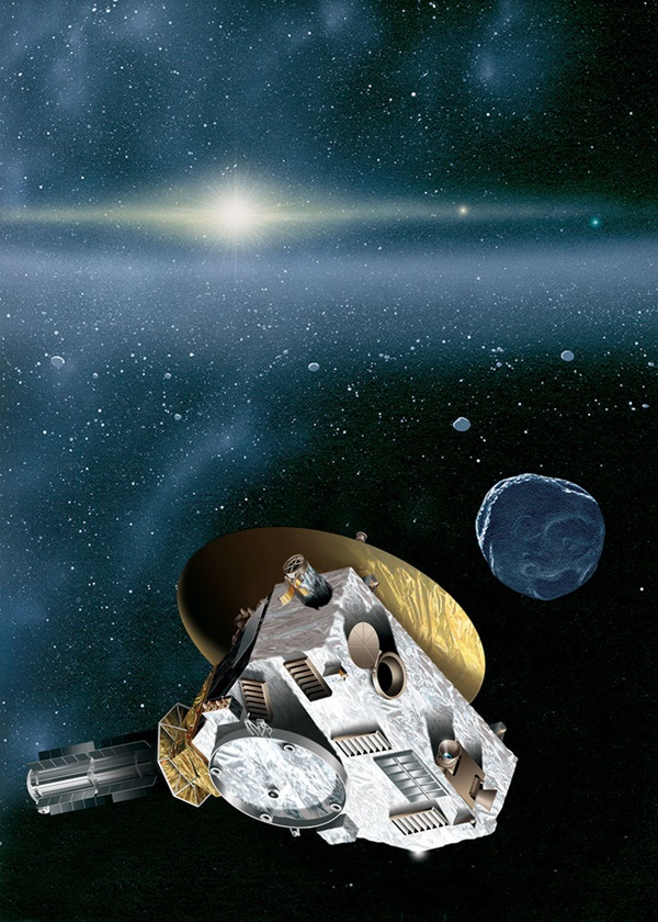 Artist's impression of New Horizons and Kuiper Belt Object