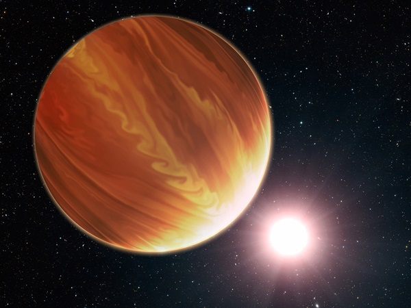 Artist's impression of a gas giant planet