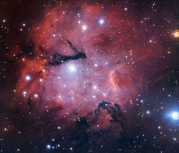 The little-known cloud of cosmic gas and dust called Gum 15 is the birthplace and home of hot young stars.