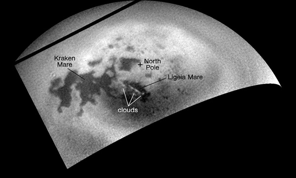 Clouds over Titan