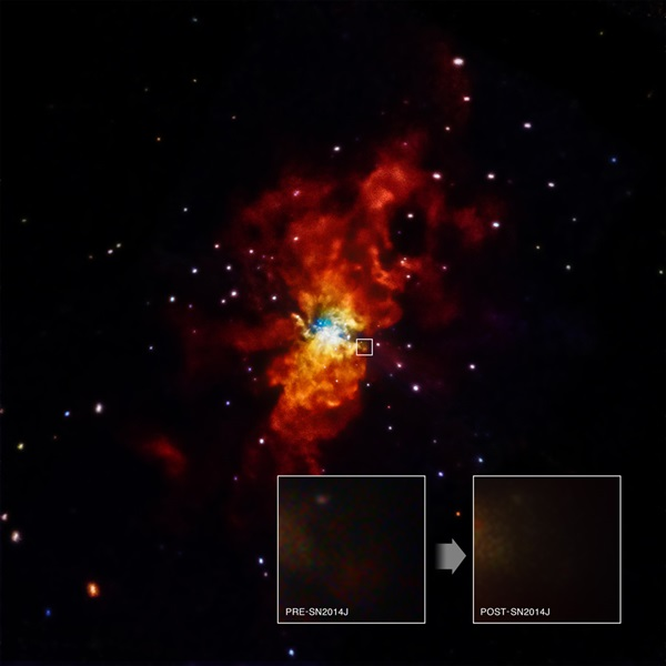 Astronomers first spotted SN 2014J in the M82 galaxy on January 21, 2014, making it one of the closest supernovas discovered in decades.