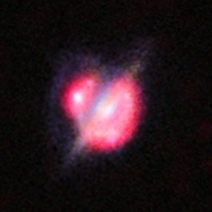 ALMA sees two galaxies collide