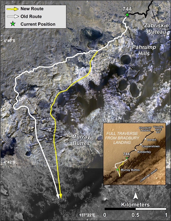 Curiosity's new route to Murray Formation