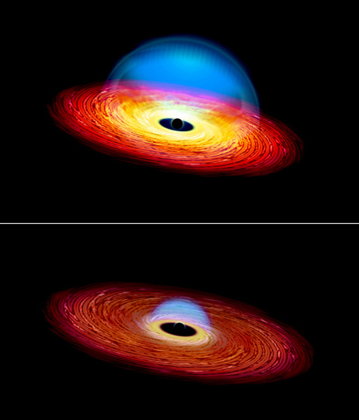 """Black hole on a diet creates a """"changing look"""" quasar ..."""
