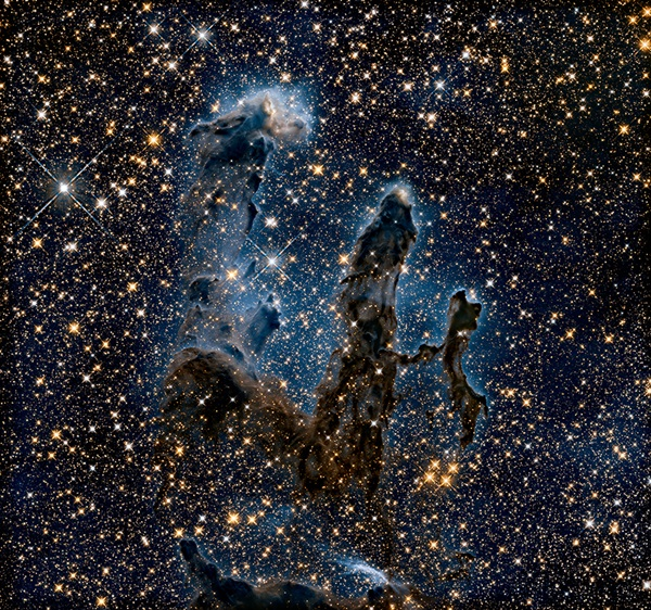 "Hubble's ""Pillars of Creation"" in near-infrared"