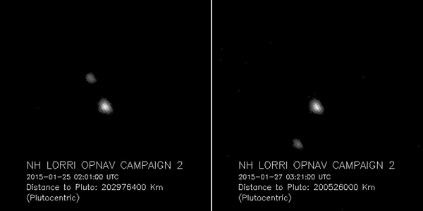 Pluto in January 2015 as seen by New Horizons