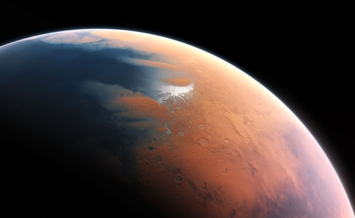 Artist's illustration of Mars about 4 billion years ago
