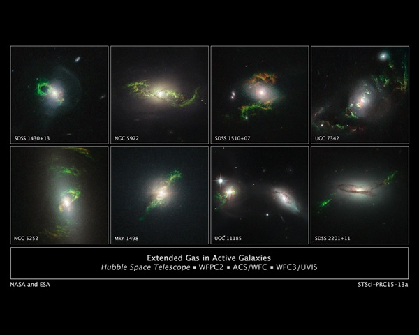 Gas in active galaxies