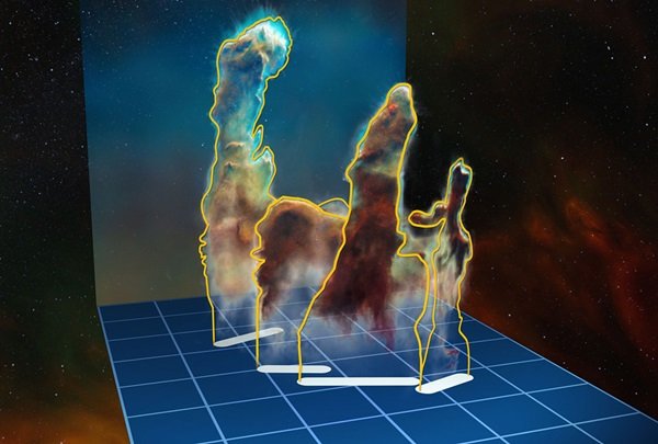 Pillars of Creation in 3-D