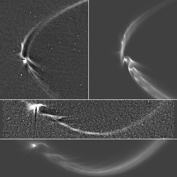 Tendril-like features in Saturn system