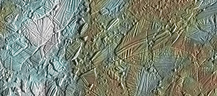 Europa's icy surface