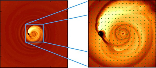 This simulation helps explain an odd light signal thought to be coming from a close-knit pair of merging black holes.