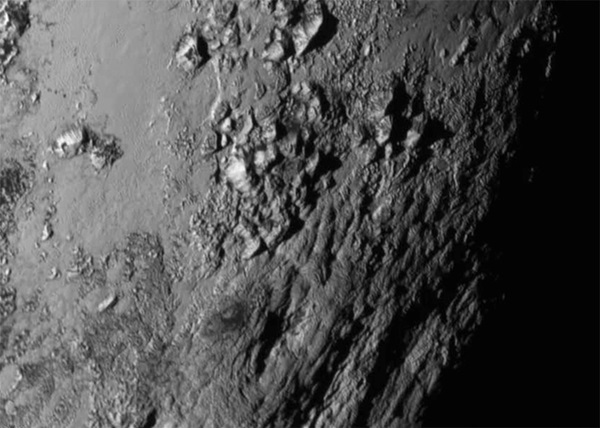 Region near Pluto's equator