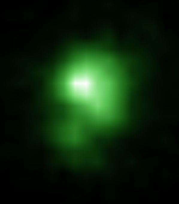 Green pea galaxy