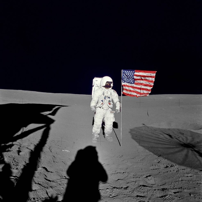 Astronaut Edgar Mitchell of Apollo 14
