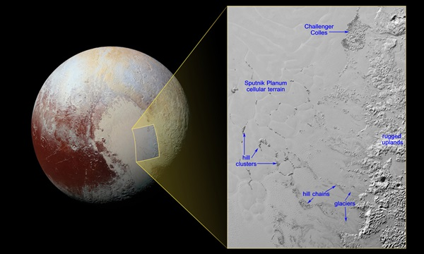 Pluto's floating hills