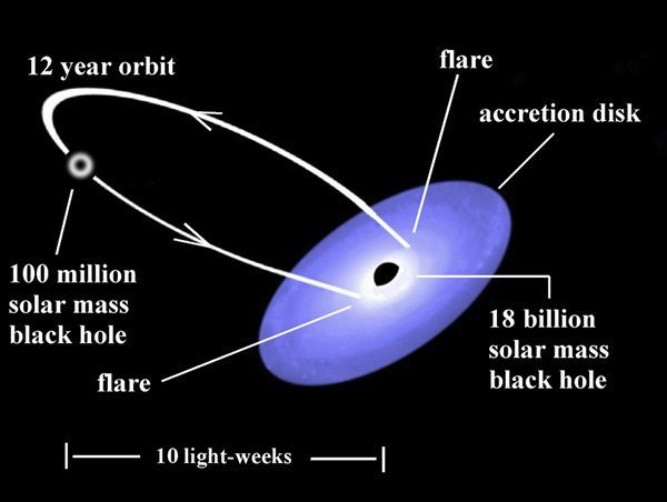 Binary black hole system