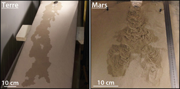 Liquid water on Earth and Mars