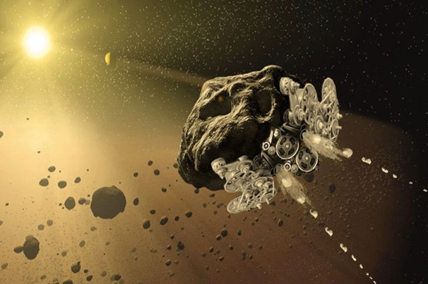 Self-powered asteroid