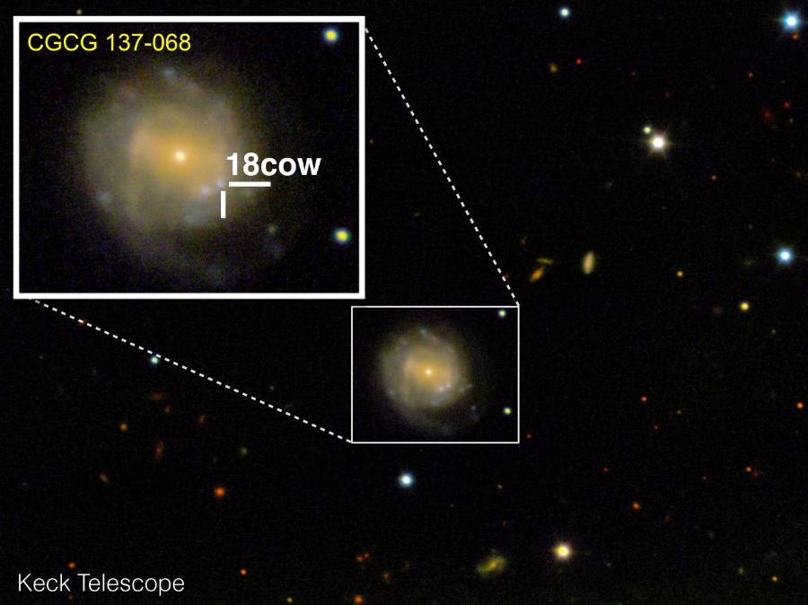 Bright flash may have been black hole being born