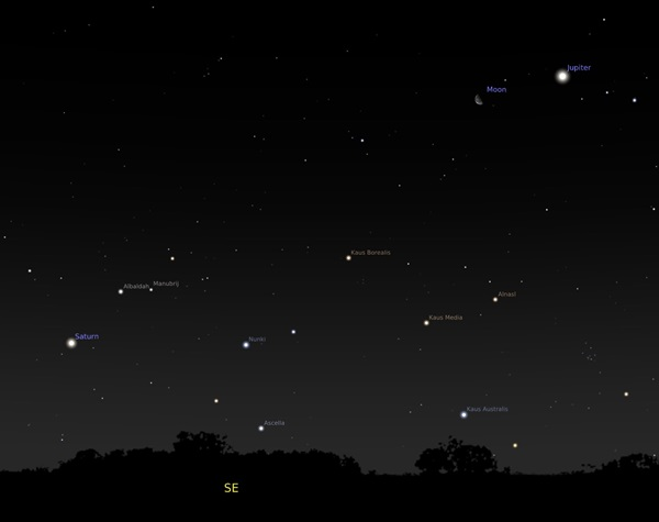 The Moon points to two bright planets this week | Astronomy com