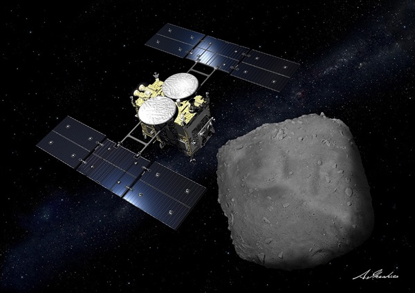 Hayabusa2 is going to create a crater in an asteroid tonight