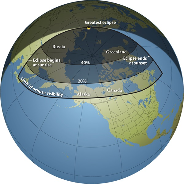 Partial Solar Eclipse Map.Partial Solar Eclipse Looms Astronomy Com