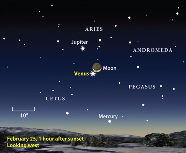 Moon-and-Venus finder chart