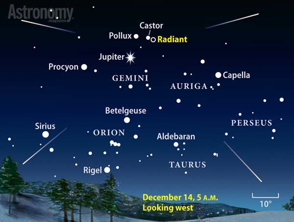 Geminid meteor shower peaks before dawn in December