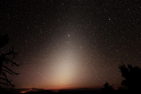 The pyramidal glow of the zodiacal light stands out before dawn in early November, just as it did on this photo from September 13, 2013.