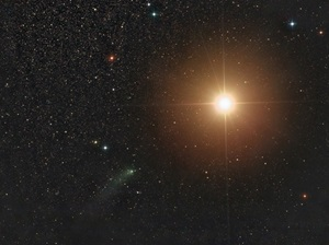 Comet Siding Spring (C/2013 A1) came within 87,000 miles (140,000 kilometers) of Mars' surface October 19 at 18h28m UT (2:28 p.m. EDT).